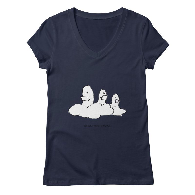 Ghostwriters in the sky Women's Regular V-Neck by chalkmotion's Shop