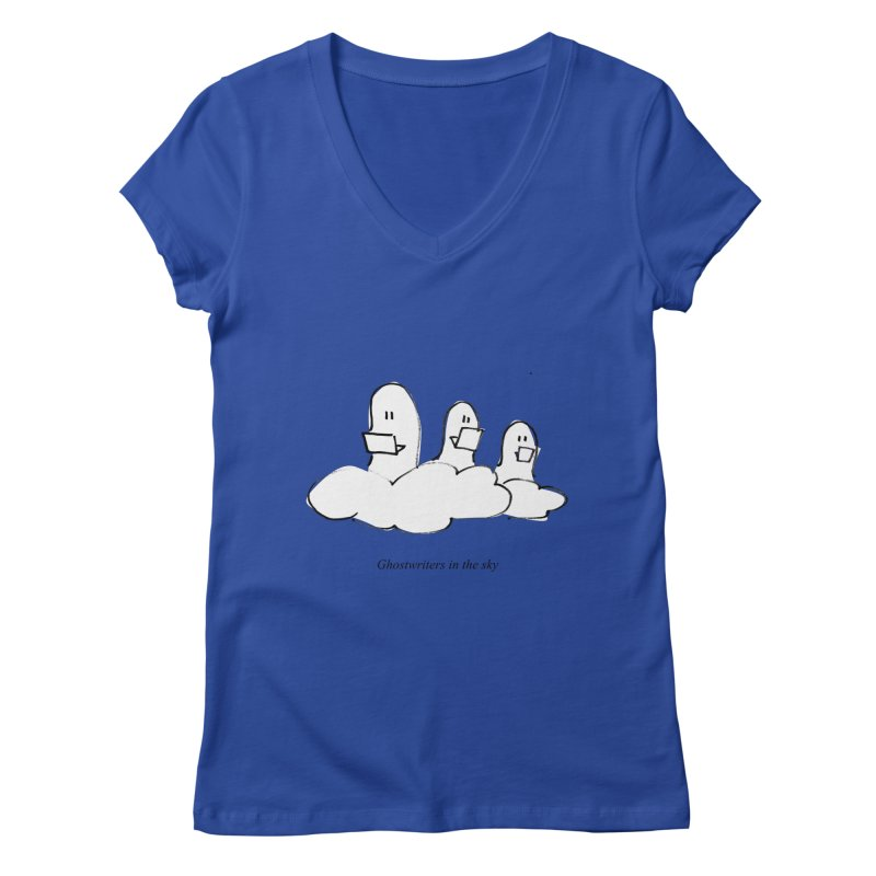 Ghostwriters in the sky Women's V-Neck by chalkmotion's Shop