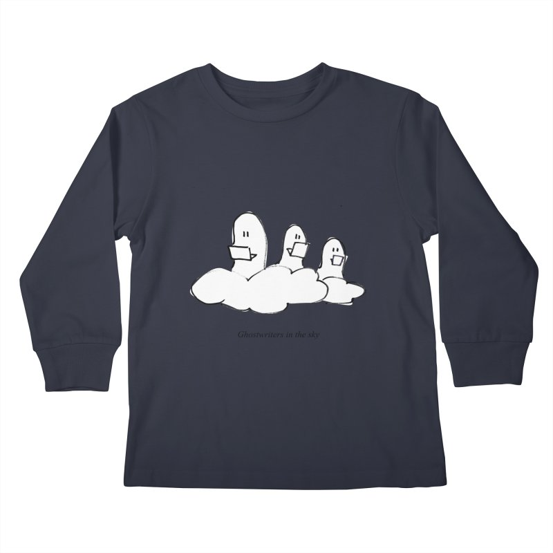 Ghostwriters in the sky Kids Longsleeve T-Shirt by chalkmotion's Shop