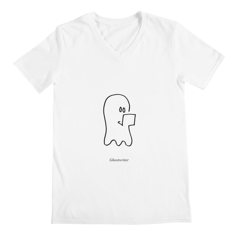 ghostwriter Men's V-Neck by chalkmotion's Shop