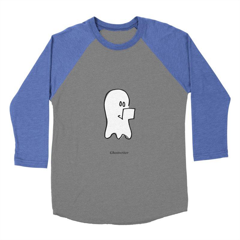 ghostwriter Men's Baseball Triblend Longsleeve T-Shirt by chalkmotion's Shop
