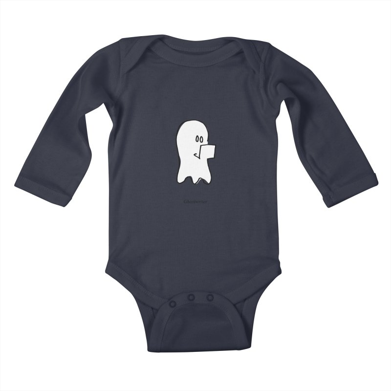 ghostwriter Kids Baby Longsleeve Bodysuit by chalkmotion's Shop