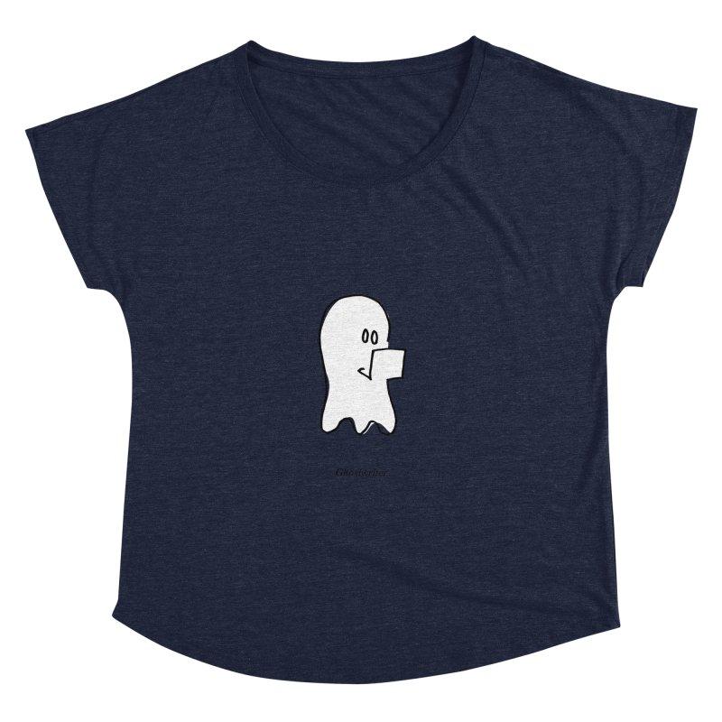 ghostwriter Women's Dolman Scoop Neck by chalkmotion's Shop