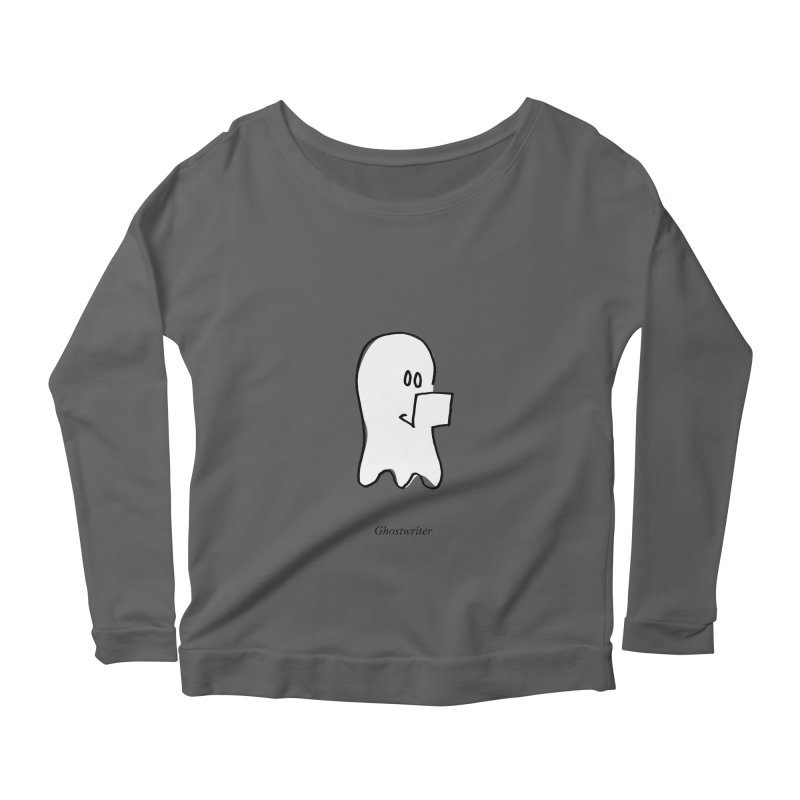 ghostwriter Women's Longsleeve Scoopneck  by chalkmotion's Shop