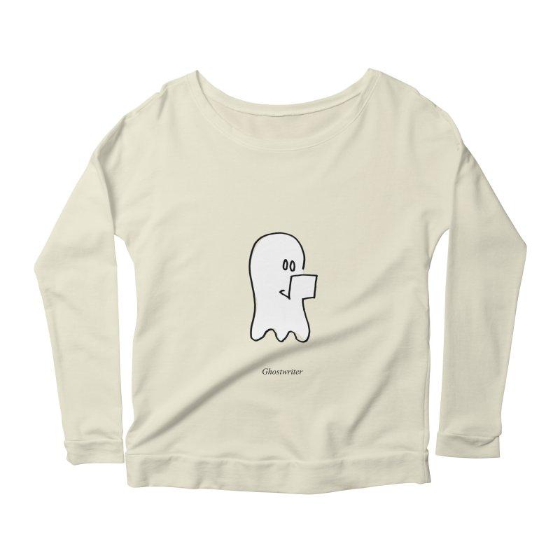 ghostwriter Women's Longsleeve Scoopneck  by chalkmotion's Shop