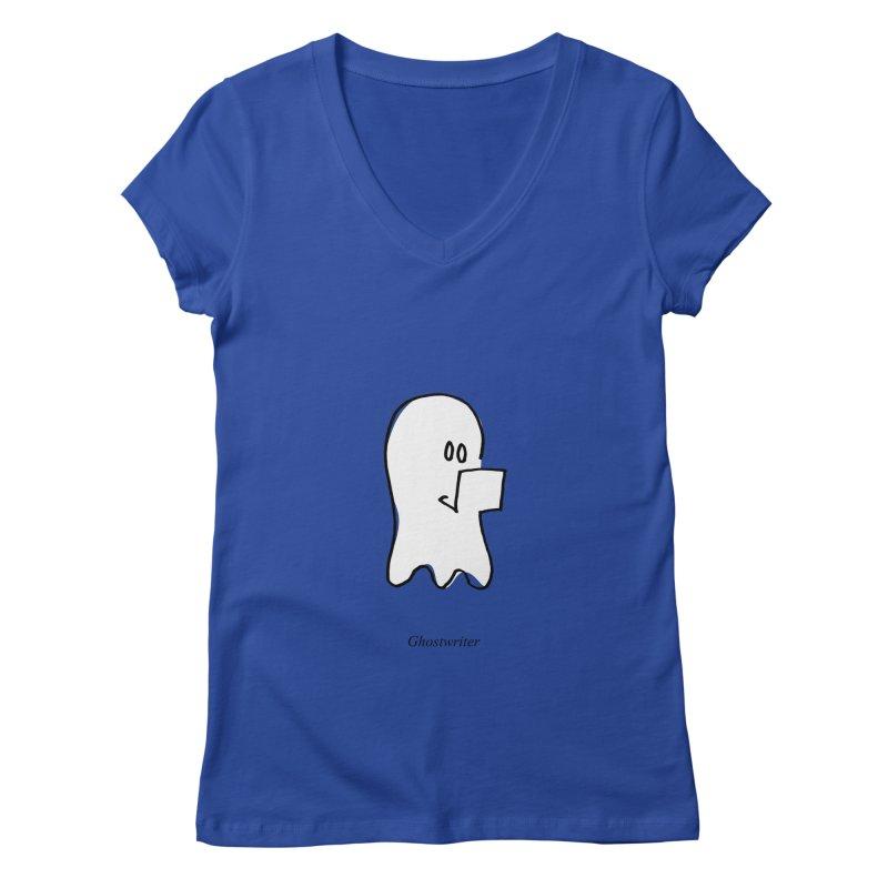 ghostwriter Women's Regular V-Neck by chalkmotion's Shop