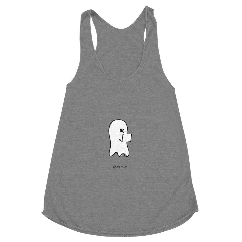 ghostwriter Women's Racerback Triblend Tank by chalkmotion's Shop