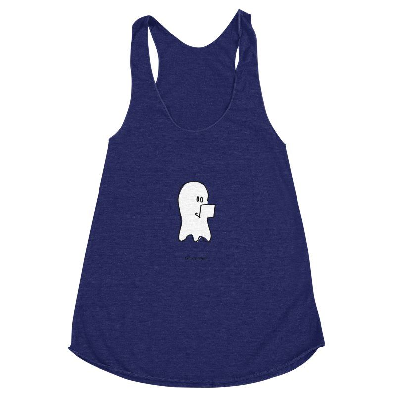 ghostwriter Women's Racerback Triblend Tank by chalkmotion's Shop