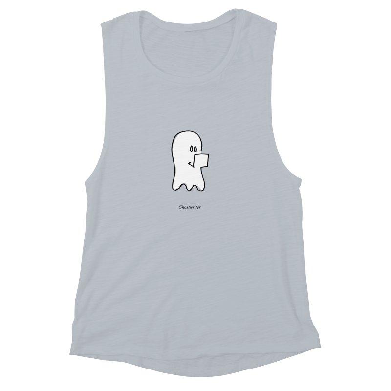 ghostwriter Women's Muscle Tank by chalkmotion's Shop