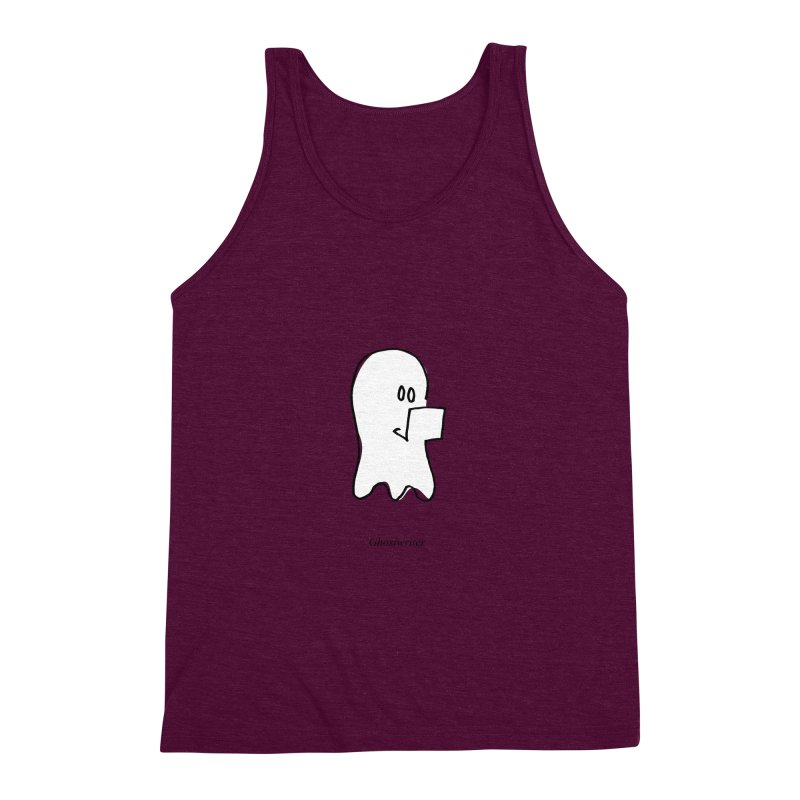 ghostwriter Men's Triblend Tank by chalkmotion's Shop