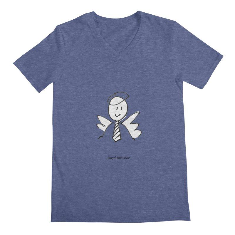 Angel Investor Men's V-Neck by chalkmotion's Shop
