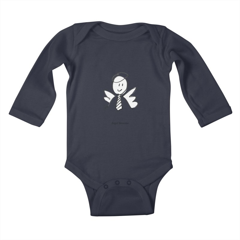 Angel Investor Kids Baby Longsleeve Bodysuit by chalkmotion's Shop