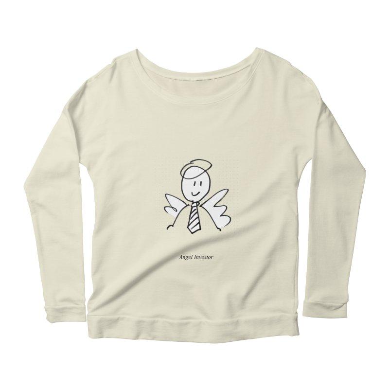 Angel Investor Women's Scoop Neck Longsleeve T-Shirt by chalkmotion's Shop