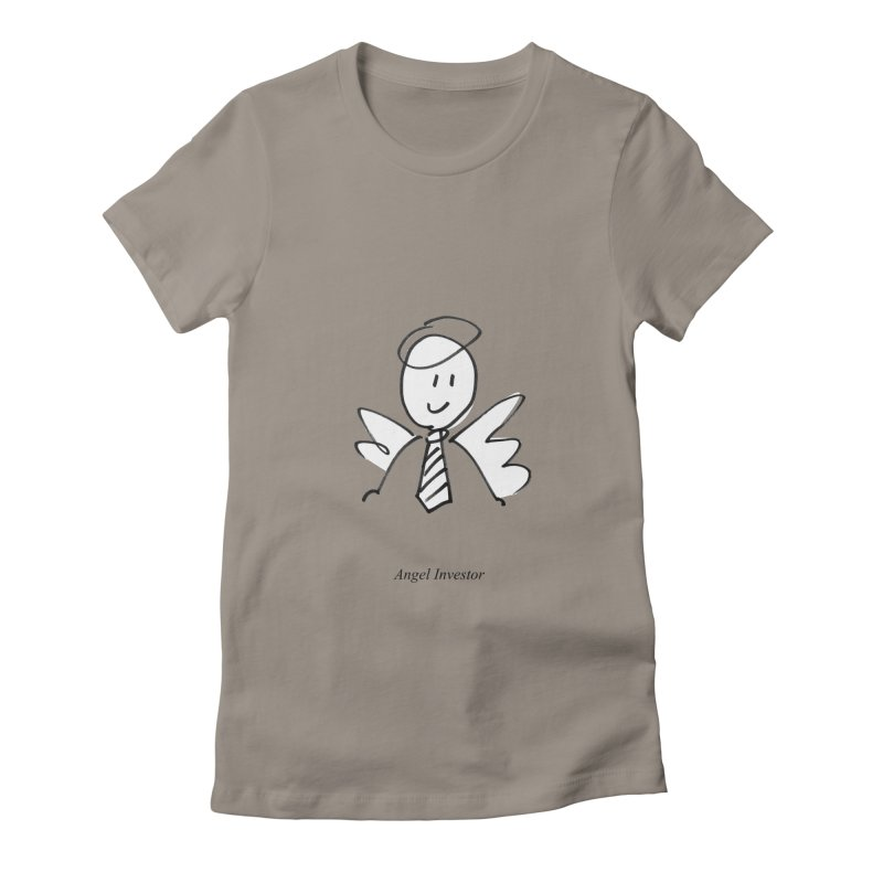 Angel Investor Women's Fitted T-Shirt by chalkmotion's Shop