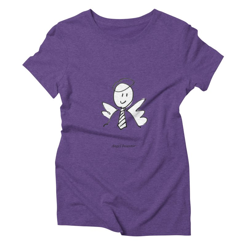 Angel Investor Women's Triblend T-Shirt by chalkmotion's Shop