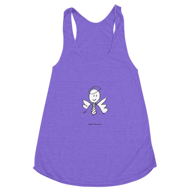 Angel Investor Women's Racerback Triblend Tank by chalkmotion's Shop