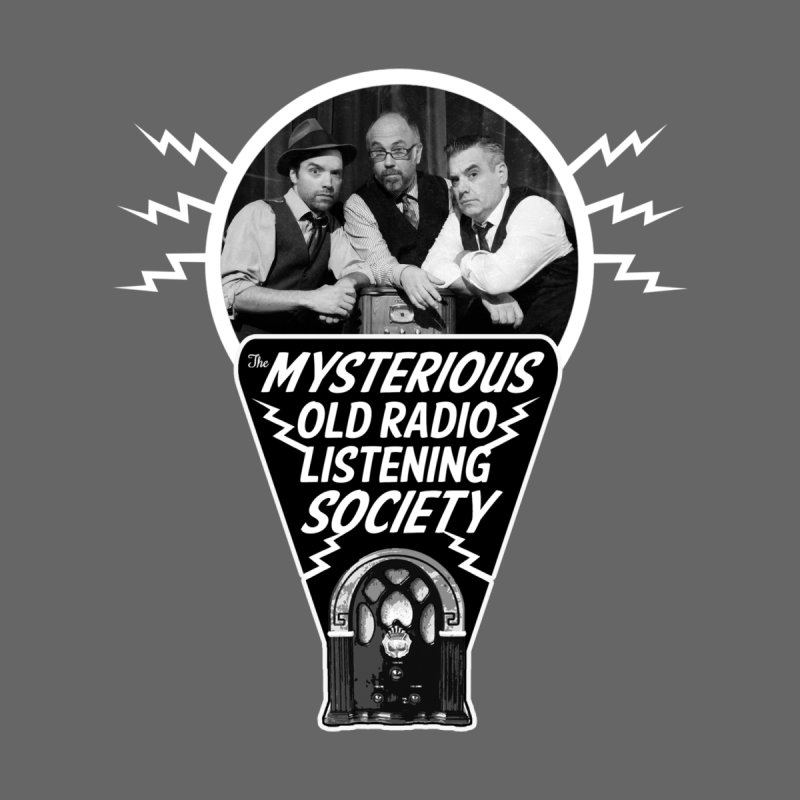 Mysterious Old Radio Listening Society Logo With Your Hosts by Ghoulish Delights