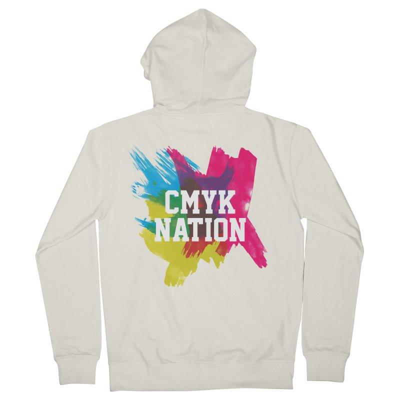 CMYK Nation Men's Zip-Up Hoody by Gianavaria