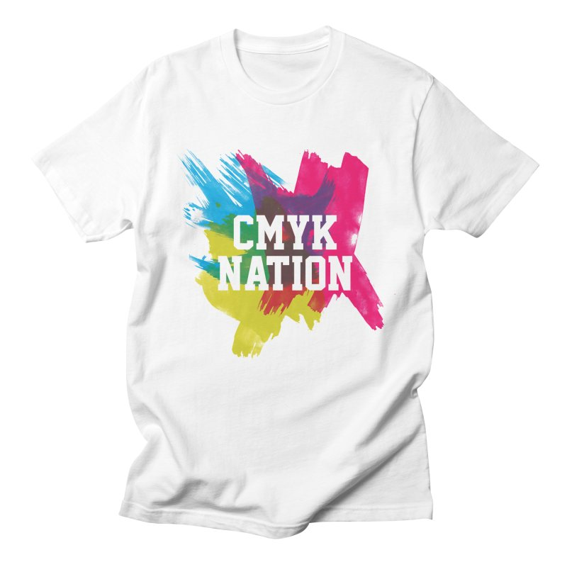 CMYK Nation Men's T-shirt by Gianavaria