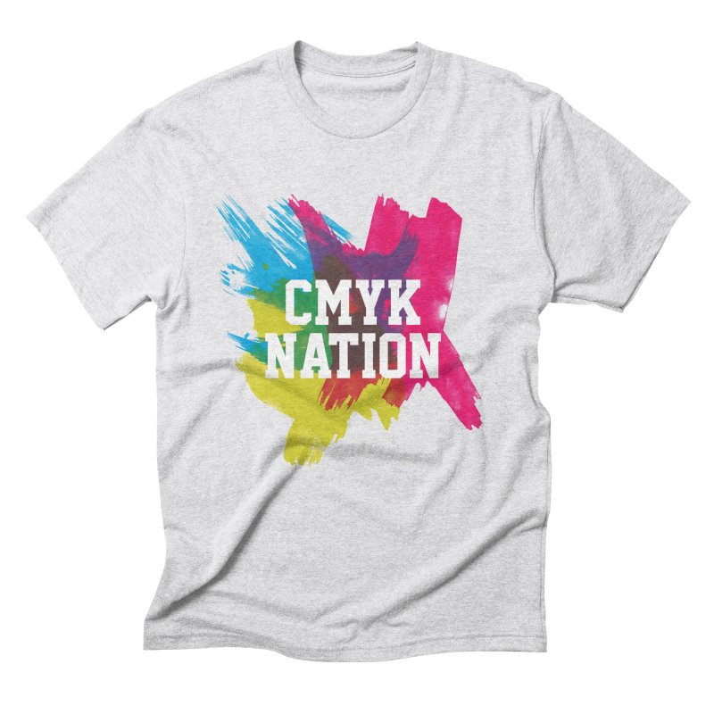 CMYK Nation Men's Triblend T-shirt by Gianavaria