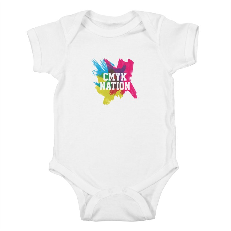 CMYK Nation Kids Baby Bodysuit by Gianavaria