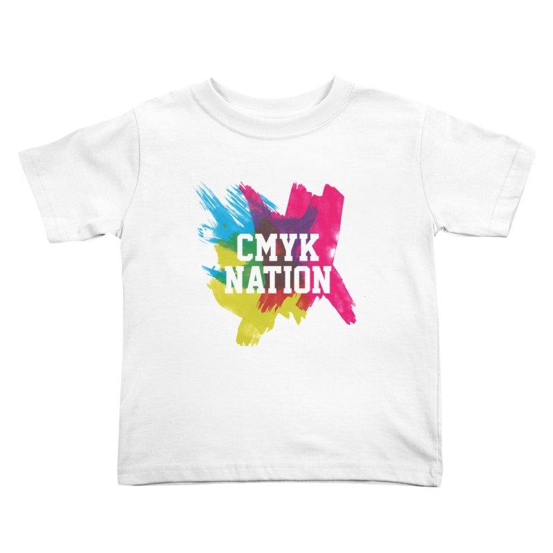 CMYK Nation Kids Toddler T-Shirt by Gianavaria