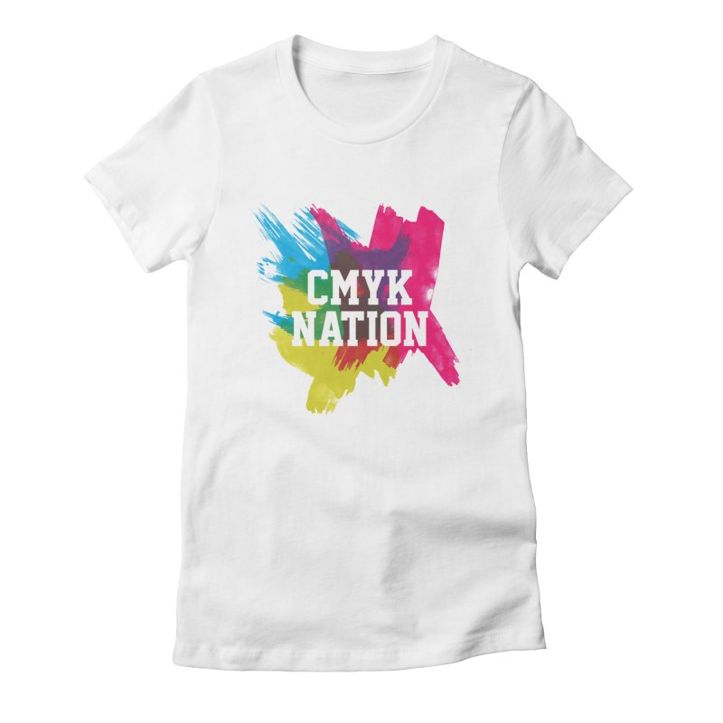 CMYK Nation Women's Fitted T-Shirt by Gianavaria