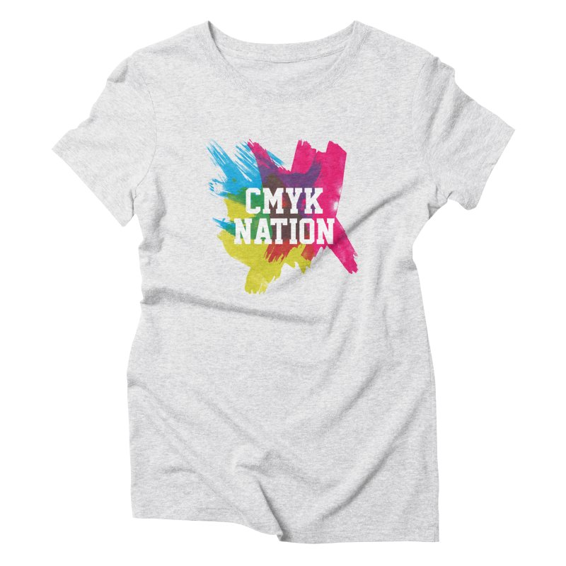 CMYK Nation Women's Triblend T-Shirt by Gianavaria