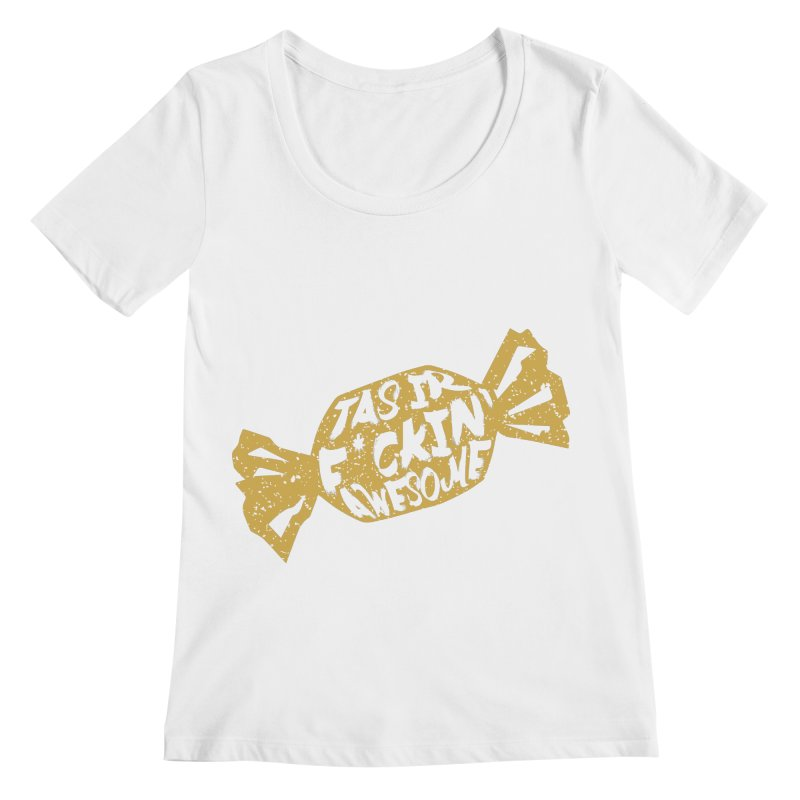 Latvian Awesome Candy Women's Scoopneck by Gianavaria