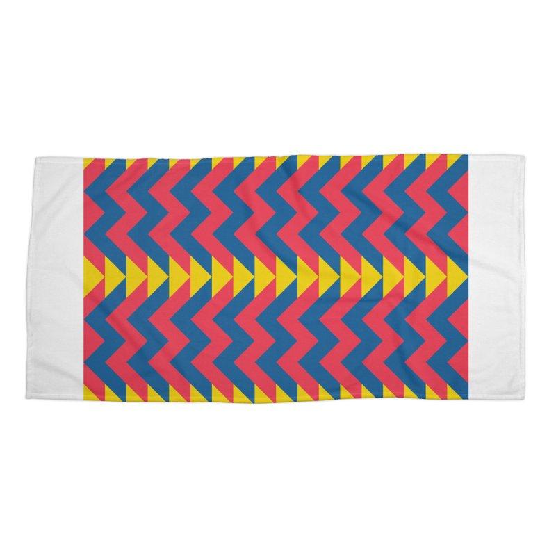 Circus Accessories Beach Towel by gildamartini's Artist Shop