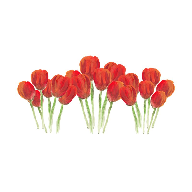 Red tulips by Gillian Lancaster Art's Artist Shop