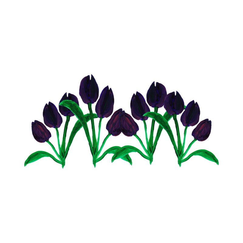 Purple tulips by Gillian Lancaster Art's Artist Shop