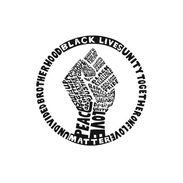 image for Black Lives Matter - Wall Art Square (Black Print)