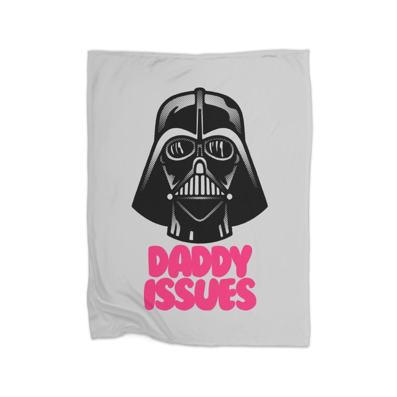 Daddy issues Home Fleece Blanket Blanket by Gimetzco's Damaged Goods