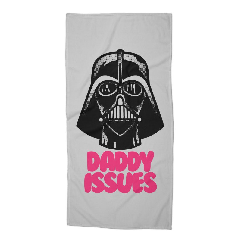 Daddy issues Accessories Beach Towel by Gimetzco's Damaged Goods