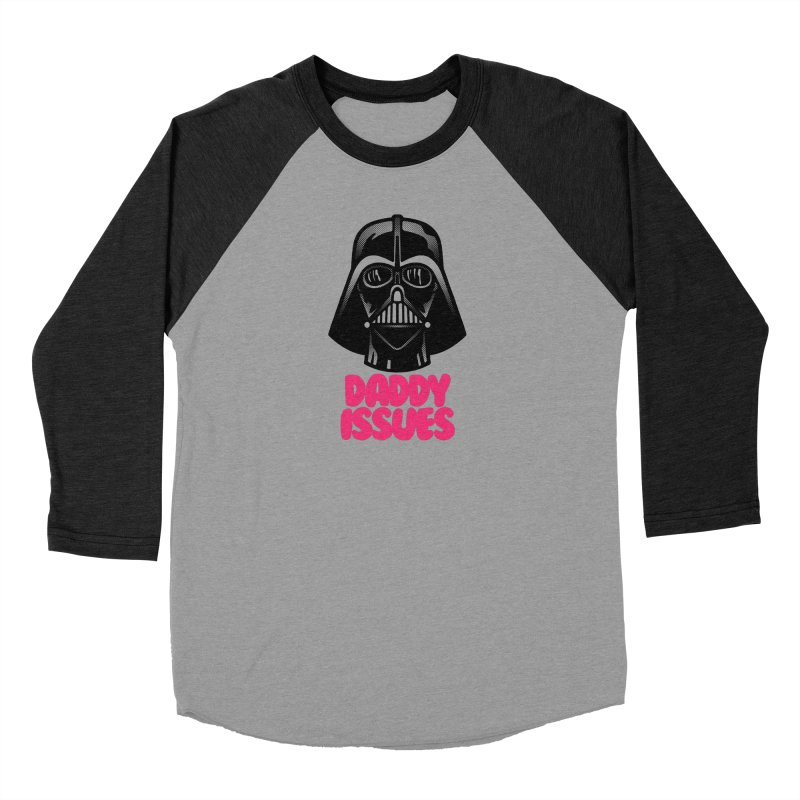 Daddy issues Men's Baseball Triblend Longsleeve T-Shirt by Gimetzco's Damaged Goods
