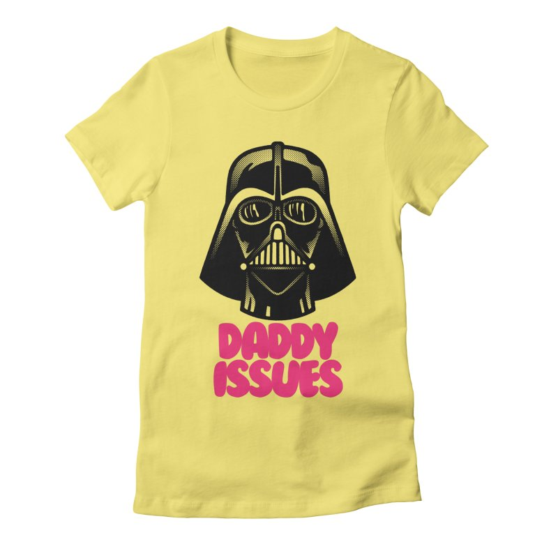 Daddy issues Women's Fitted T-Shirt by Gimetzco's Damaged Goods