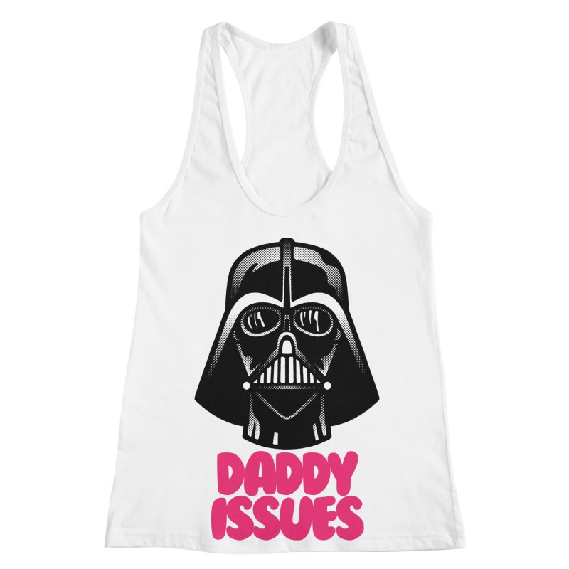 Daddy issues Women's Racerback Tank by Gimetzco's Damaged Goods