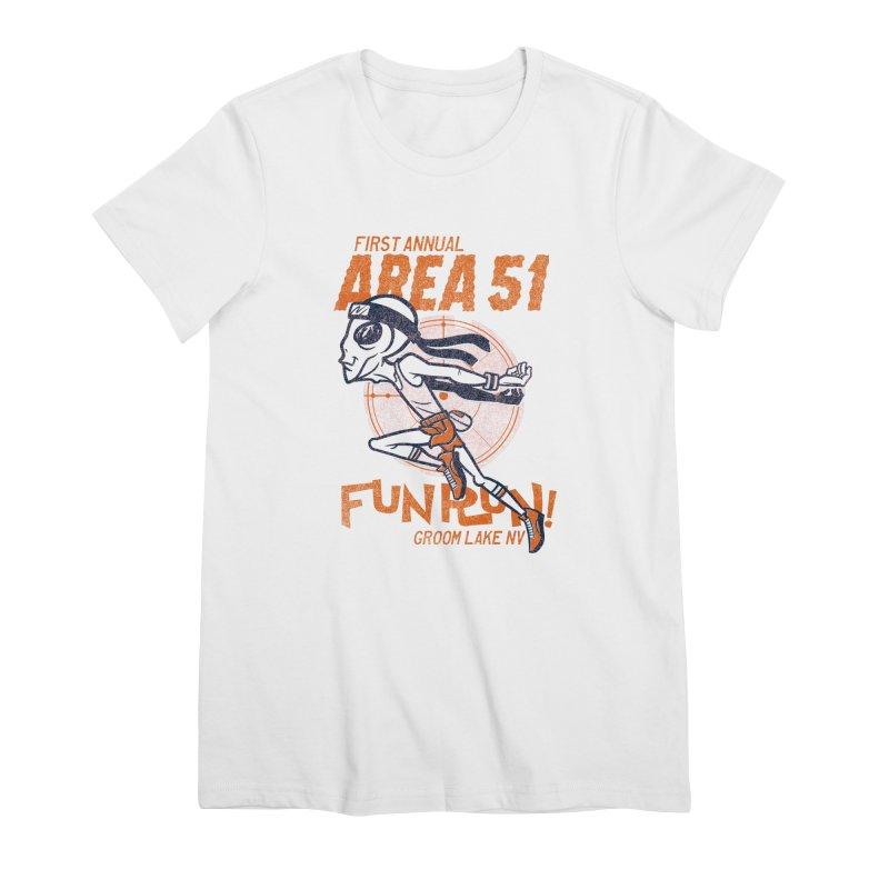 Area 51 Fun Run! Women's Premium T-Shirt by Gimetzco's Damaged Goods