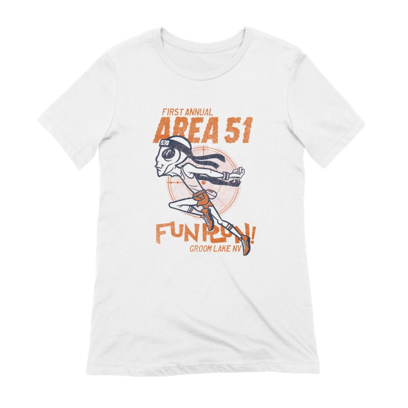 Area 51 Fun Run! Women's Extra Soft T-Shirt by Gimetzco's Damaged Goods