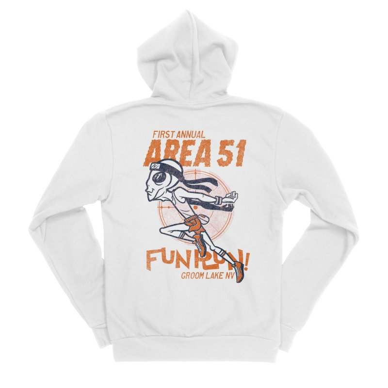 Area 51 Fun Run! Women's Sponge Fleece Zip-Up Hoody by Gimetzco's Damaged Goods
