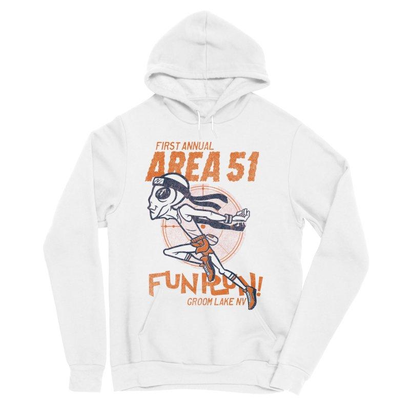 Area 51 Fun Run! Men's Sponge Fleece Pullover Hoody by Gimetzco's Damaged Goods