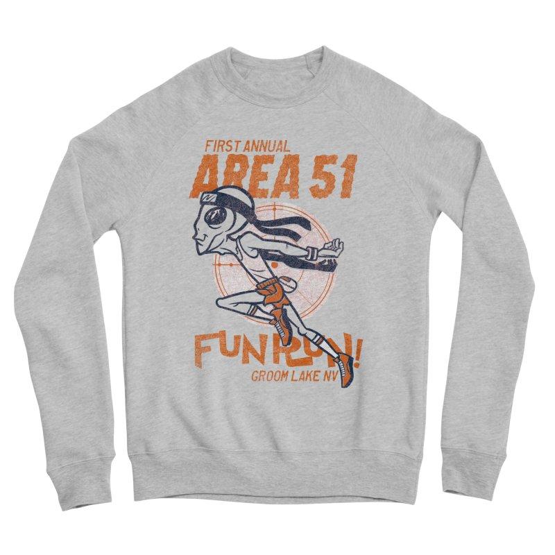 Area 51 Fun Run! Women's Sponge Fleece Sweatshirt by Gimetzco's Damaged Goods