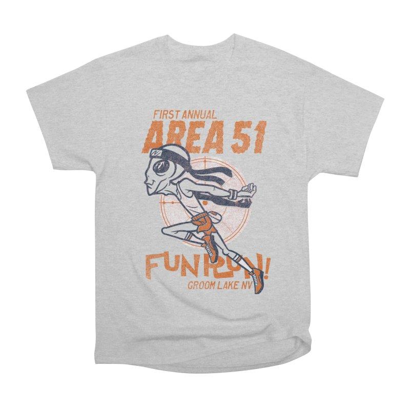 Area 51 Fun Run! Women's Heavyweight Unisex T-Shirt by Gimetzco's Damaged Goods