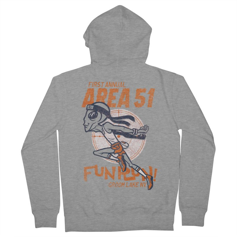 Area 51 Fun Run! Women's French Terry Zip-Up Hoody by Gimetzco's Damaged Goods
