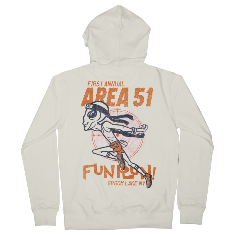 Area 51 Fun Run! Men's French Terry Zip-Up Hoody by Gimetzco's Damaged Goods