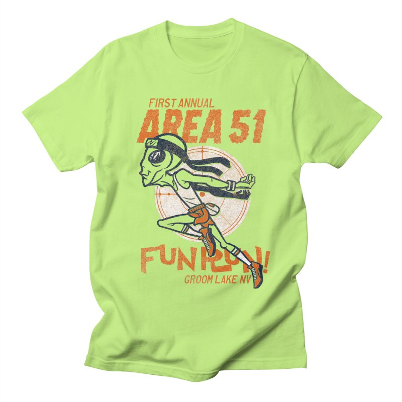 Area 51 Fun Run! Men's Regular T-Shirt by Gimetzco's Damaged Goods