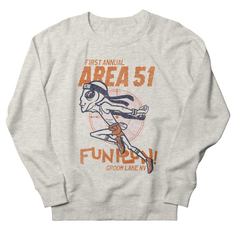 Area 51 Fun Run! Men's French Terry Sweatshirt by Gimetzco's Damaged Goods