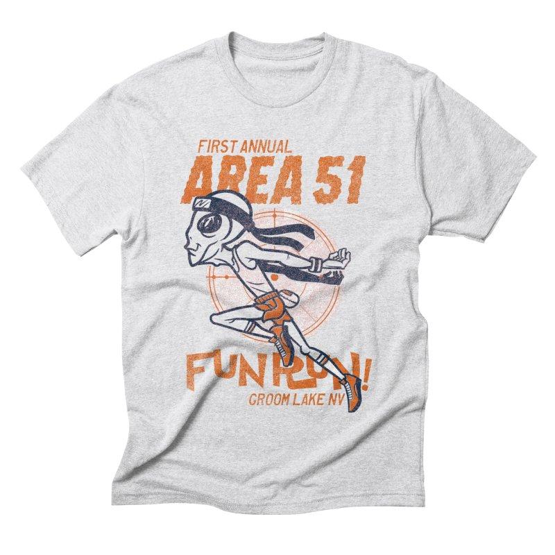 Area 51 Fun Run! Men's Triblend T-Shirt by Gimetzco's Damaged Goods