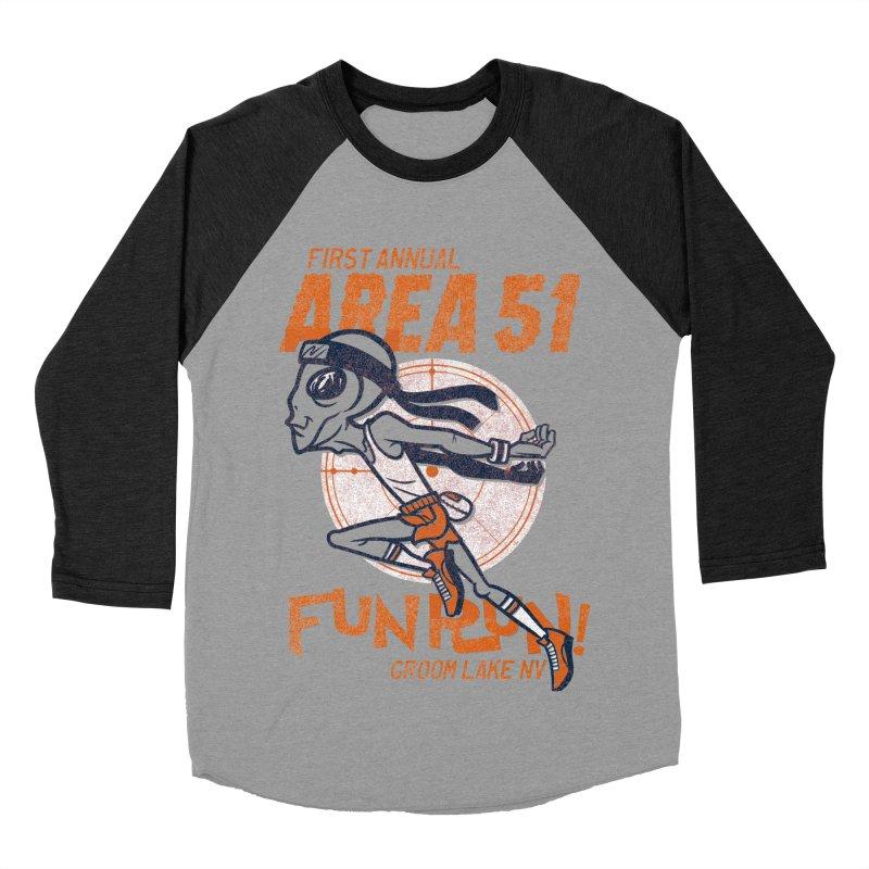 Area 51 Fun Run! Women's Baseball Triblend Longsleeve T-Shirt by Gimetzco's Damaged Goods